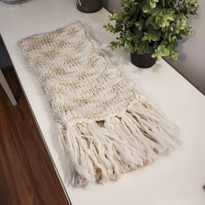 🏷2x$10 blanket scarf, ivory color, gold sp